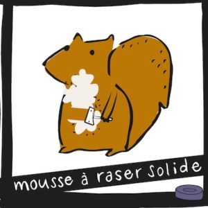 Mousse à raser solide