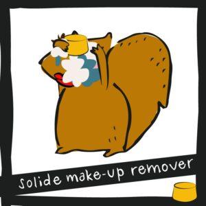 Solide make-up remover