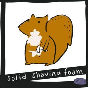 Solid shaving foam