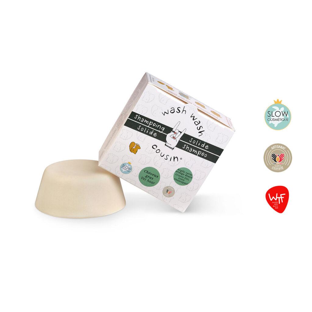 Shampoing solide gras produit boite